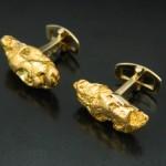 Natural Gold Nugget Cufflinks