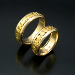 Matching Round Natural Gold Wedding Band