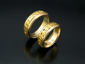 Matching Round Natural Gold Wedding Band