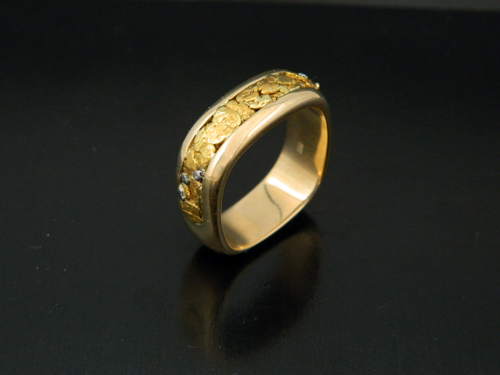 wedding ring yellow rings fit soft mens gents edged comfort