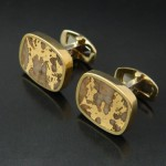 Gold in Quartz Cufflinks in 18kt