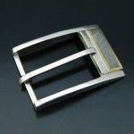 Sterling Silver Belt Buckle with Gibeon Meteorite