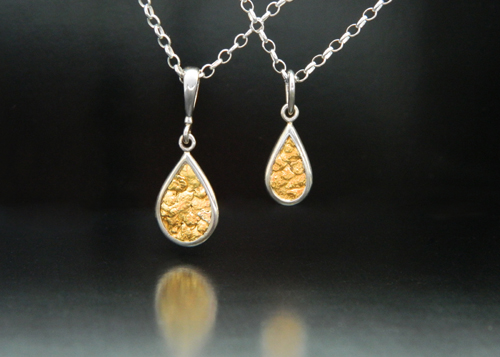 Pendants sterling silver and natural gold nugget pendants mozeypictures Image collections