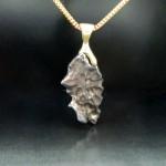 Meteorite Pendant with 18k Clasp